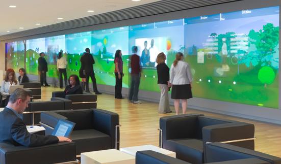 Interactive Information Displays Gesturetek Health